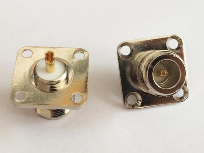 N type Female Jack RF Coaxial Connector 4-hole Pan