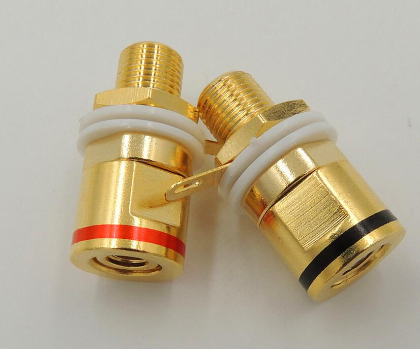 Copper Gold plated Connector Speaker banana plug