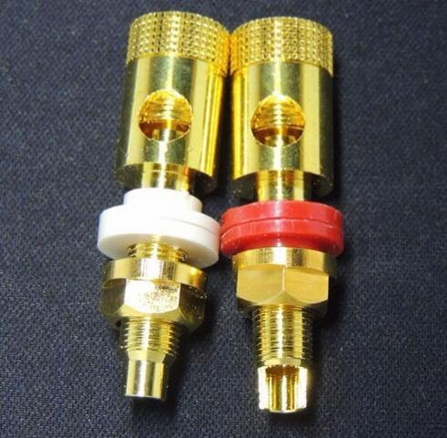 GOLD Terminal Binding Post Speaker Cable 4mm Banan