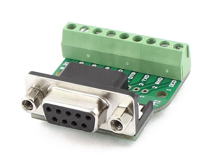 DB9 RS232 Serial to Terminal Female Adapter